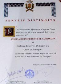 Diploma de Serveis Distingits a l'APT