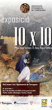 "Cartell Exposició ""10 x 10"" · Nadal 2020"